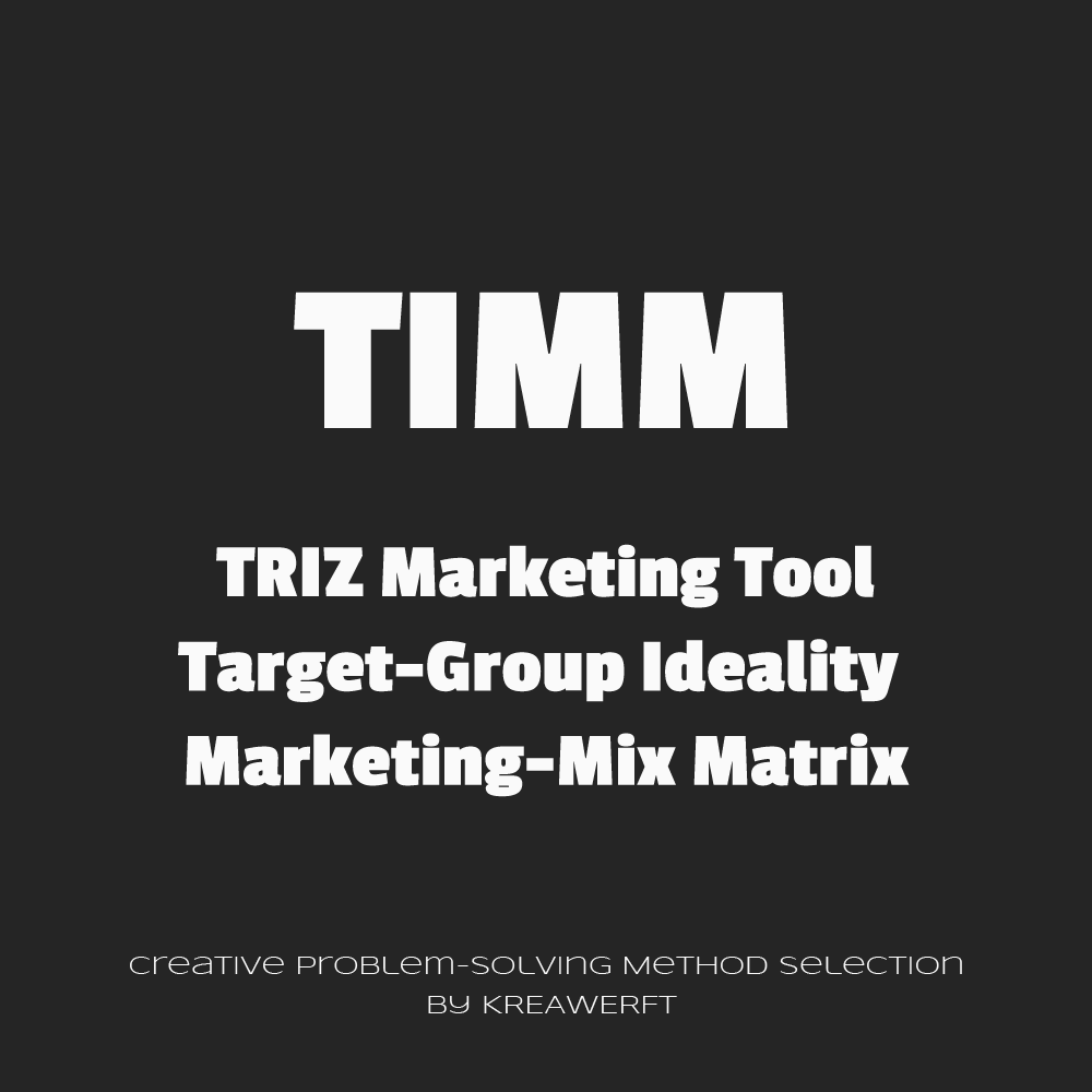 TIMM - Target-Group Ideality Marketing-Mix Matrix