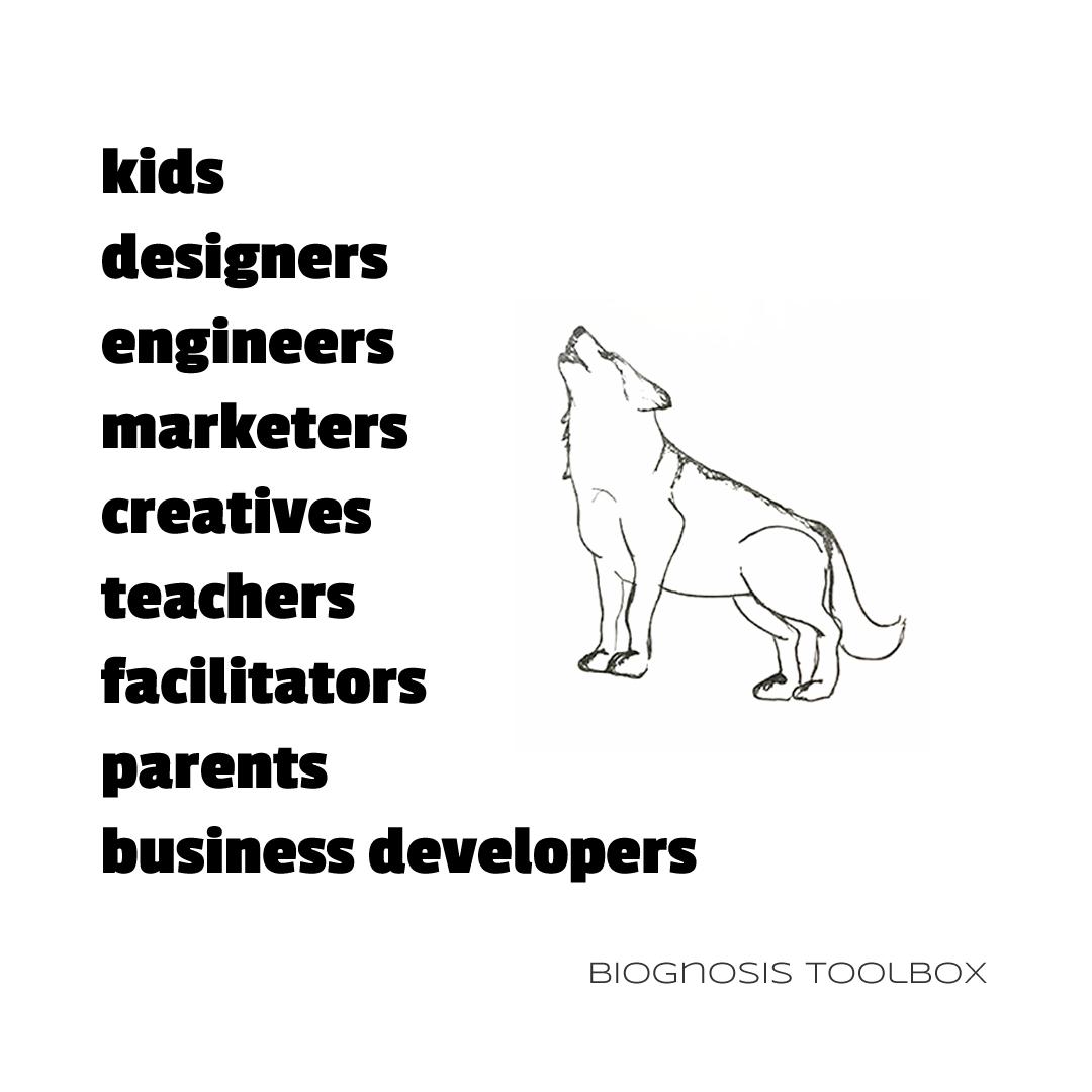 kids, designers, engineers, marketers, creatives, teachers, facilitators, parents, business developers