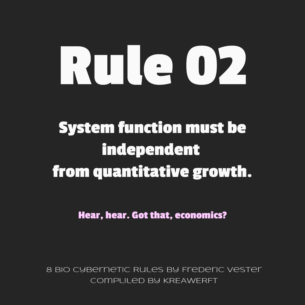 Bio-Cybernetic Rules by Frederic Vester, #02