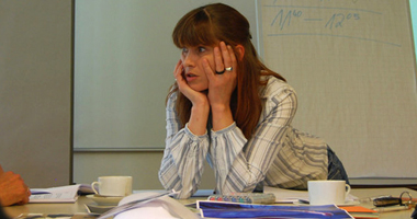 Elke Barbara Bachler (while coaching and discussing during workshop)