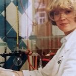 Me during my chemical engineering education, being in the lab, with very big protective glasses (18 years old)
